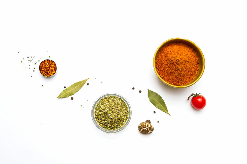 42071348 - food and spices herb for cooking background and design.